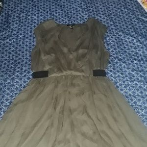 H&M Olive Green Dress Sz 12
